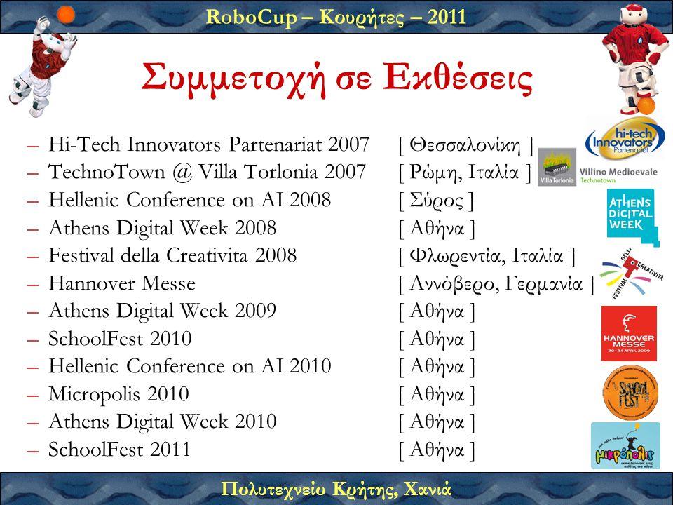 Συμμετοχή σε Εκθέσεις Hi-Tech Innovators Partenariat 2007 [ Θεσσαλονίκη ] TechnoTown @ Villa Torlonia 2007 [ Ρώμη, Ιταλία ]